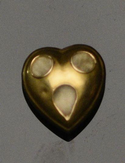 Petit coeur de croix de Savoie en or jaune...