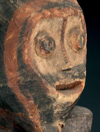 Statue Mambila - NIGERIA Bois H. 86 cm Provenance Yves Develon, Paris Expositions...