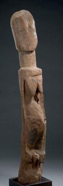 Statue hermaphrodite Niongom - MALI Bois H. 73 cm Provenance Joaquin Pecci, Bruxelles...
