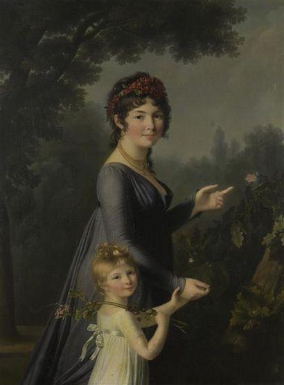 Marie Victoire LEMOINE (1754-1820) ? Portrait présumé de Marie Geneviève Lemoine...