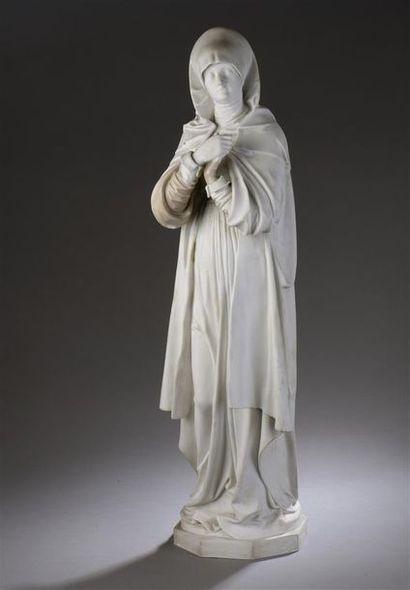 ? Grande statuette en biscuit de Sèvres représentant...