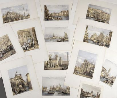[Venise] Adolphe ROUARGUE (1810 - ?) Venise...
