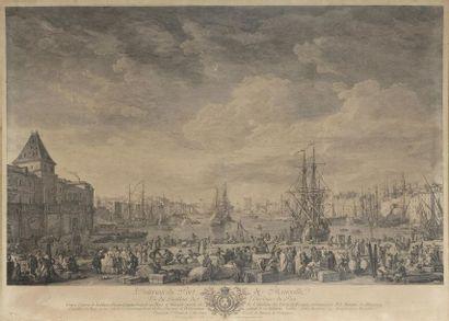 D'APRÈS JOSEPH VERNET (1714-1789) L'entrée du port de Marseille L'intérieur du port...
