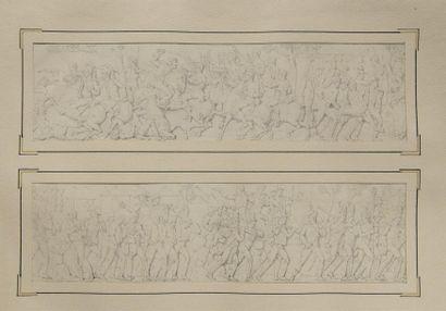 École Française du XIXe siècle Album de dessins comprenant vingt planches (à raison...