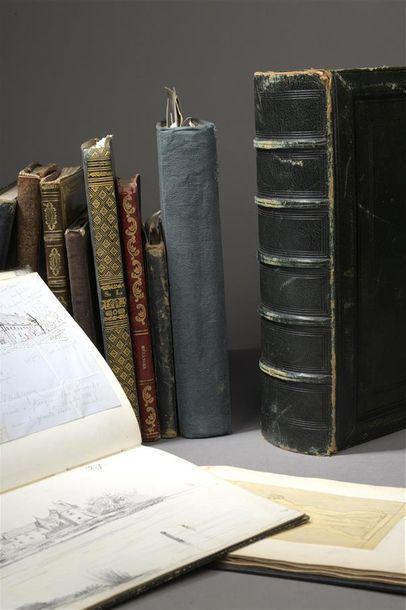 Album amicorum du XIXe siècle de 97 pages dont une vingtaine de pages vierges Ensemble...