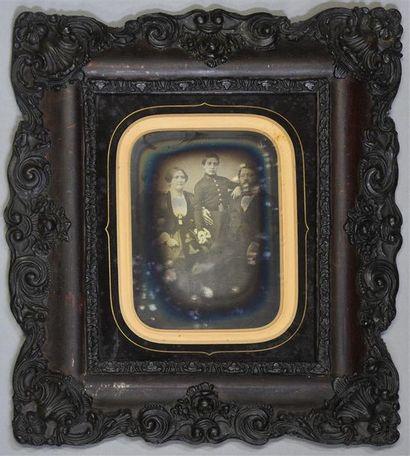 Daguerréotype demi-plaque, vers 1855 Couple...