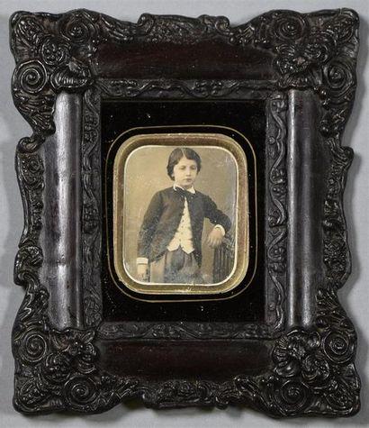 Daguerréotype, vers 1850 Portrait d'un jeune...