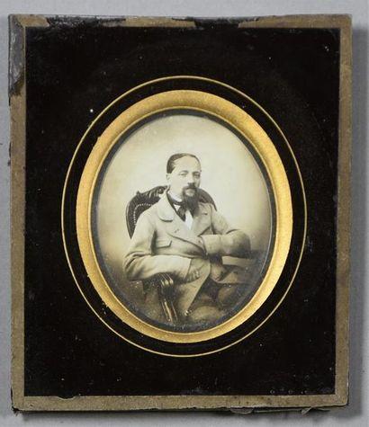 Daguerréotype, vers 1850 Portrait d'un homme...