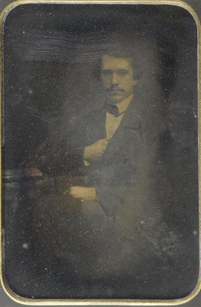 Daguerréotype, vers 1850 Portrait d'un homme aux faux airs du peintre Delacroix...