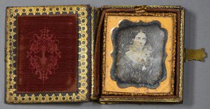 Daguerréotype, États-Unis, vers 1860 Portrait...