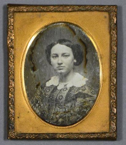 Daguerréotype, vers 1850 Portrait d'une belle...