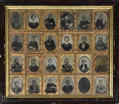 Ambrotype américain, vers 1860 Curieux cadre...