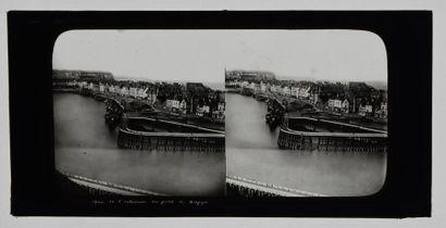 France, stéréoscopie sur verre, vers 1860 Très intéressant lot de 15 plaques stéréoscopiques...