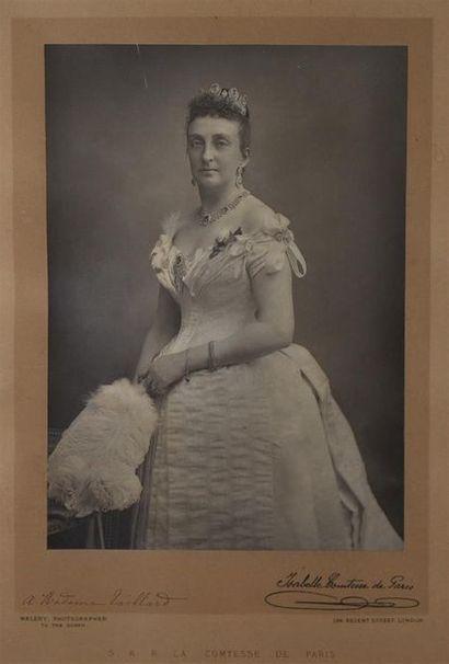 Portraits d'Isabelle Comtesse de Paris et Philippe Duc d'Orléans Paire de tirages...