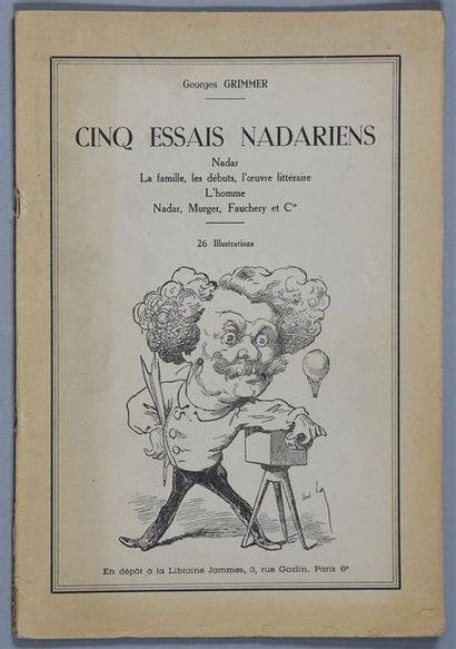 Cinq essais Nadariens Georges Grimmer, probable...