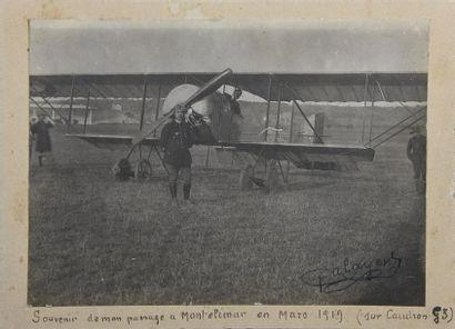 L'aviateur Palayer et son Caudron G3 à Montélimar,...