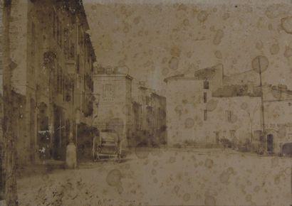 Montélimar, Faubourg d'Aygu en 1850 Rarissime...