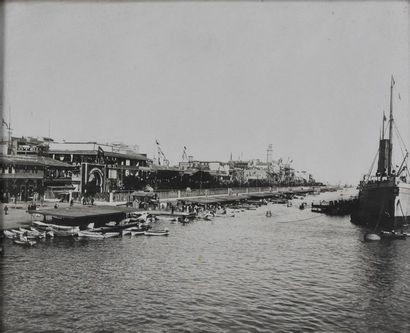 Égypte, Port-Saïd, Canal de Suez, vers 1900...