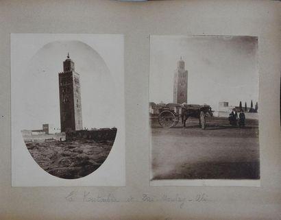 Maroc, 1920-1930 Bel album de famille comprenant...