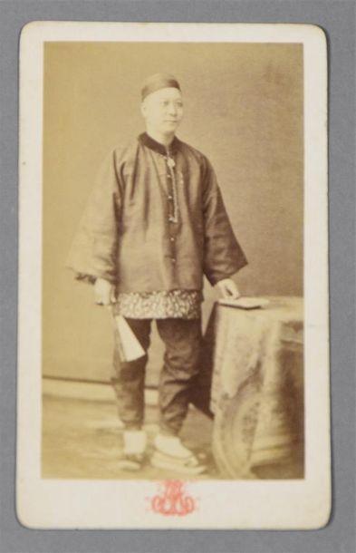 Un chinois à Alger, vers 1875 Curieuse carte...