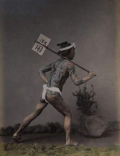 Japon, fin du XIXe siècle Superbe album comprenant...