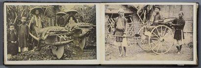 Indochine, vers 1890 Intéressant album personnel...