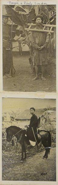 Indochine, vers 1890 Intéressant album personnel de Monsieur Lebourbier chef de...
