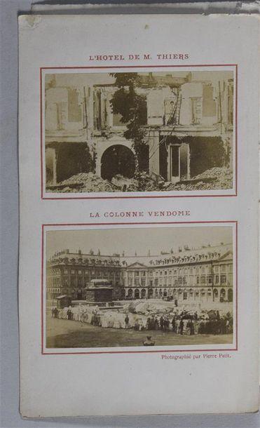 Paris-Brûlé par Pierre PETIT, 1871 Guide-recueil...