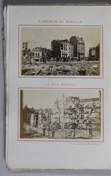 Paris-Brûlé par Pierre PETIT, 1871 Guide-recueil de Paris-Brûlé, évènements de mai...