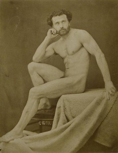 Gaudenzio Marconi (1842-1885) Nus et académies, vers 1865/1870 Rare ensemble de 5...