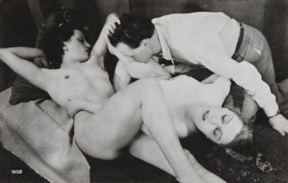 Érotique, vers 1930 Exquise suite de 14 tirages...