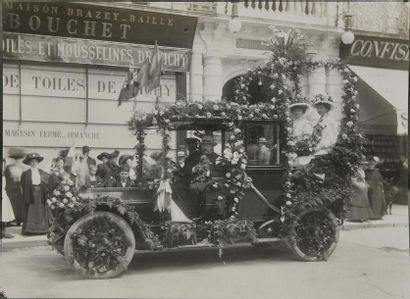 Automobiles, 1900 Belle réunion de 8 tirages...