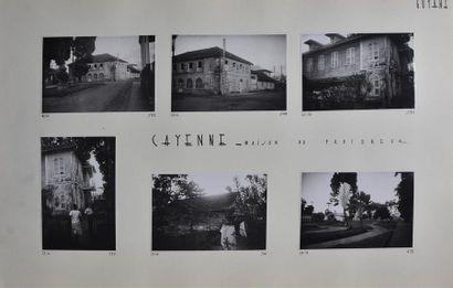 Guyane, années 1950 Rare recueil amateur d'un périple réalisé dans les années 1950,...