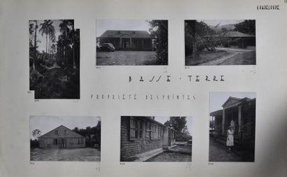 Guadeloupe, années 1950 Rare recueil amateur...