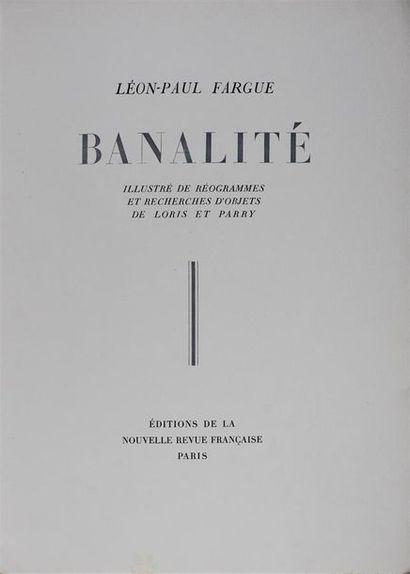 Roger PARRY (1905-1977), Fabien LORIS (1906-1979) et Léon-Paul FARGUE (1876-1947)