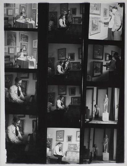 Roger Parry (1905-1977) Maurice Utrillo en prière dans son atelier, vers 1950 Grande...