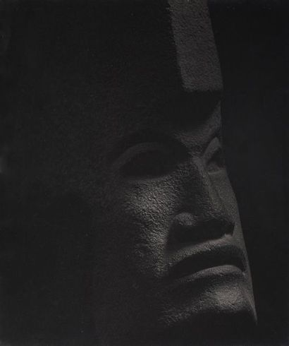 Roger Parry (1905-1977) Art totonaque, Tête humaine, XIVe-XVe siècle, région côtière...