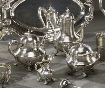 TETARD Service à thé et café en argent de...