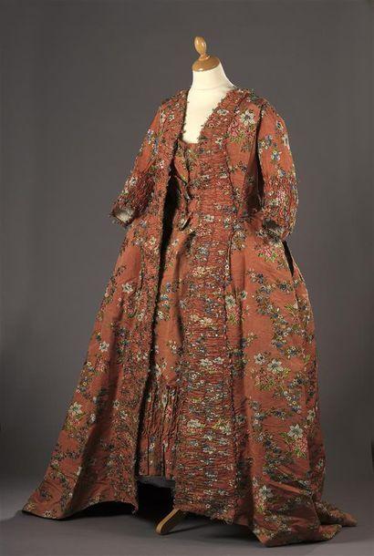 Robe à la française, vers 1760, lampas fond...