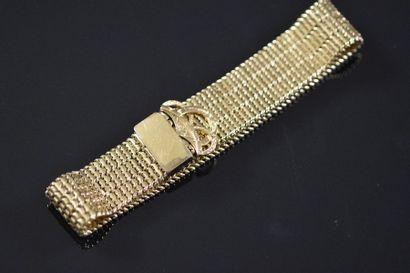 Bracelet ceinture souple en or jaune 18K...