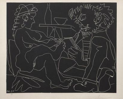Pablo PICASSO (1881-1973) Peintre dessinant...