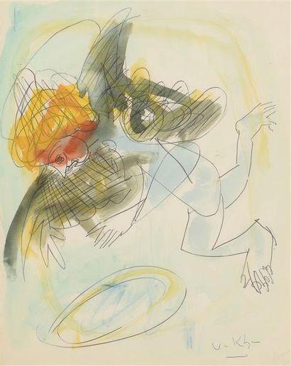 Vasyl KHMELUK (1903-1986) L'ange Encre et...