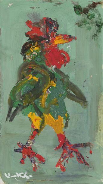 Vasyl KHMELUK (1903-1986) Le coq Gouache,...