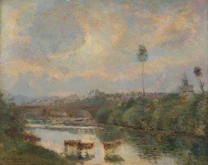 Albert LEBOURG (1849-1928) Vue de Pont-du-Château,...