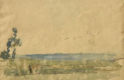 Albert LEBOURG (1849-1928) Paysage de bord...