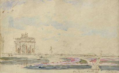 Albert LEBOURG (1849-1928) L'arc du Carrousel...