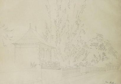 Jean DUFY (1888-1964) Mur de jardin Mine...