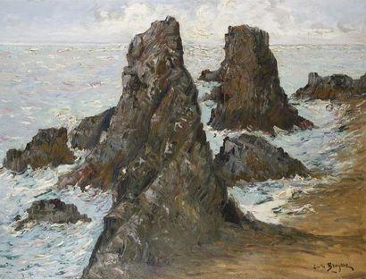 Emile BREYSSE (1880-1965) Côte rocheuse aux...