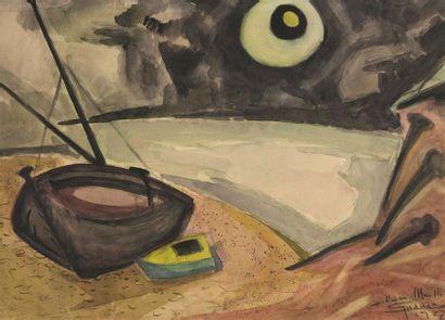 Antonio GUANSE (1926-2008) Barques au clair...