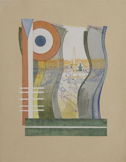 Frantisek KUPKA (1871-1957) Paris. La place...